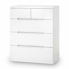 Manhattan Gloss White 3 + 2 Drawer Chest