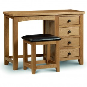 Marlborough Oak Single Pedestal Dressing Table