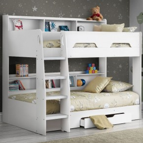 Orion White Wooden Storage Bunk Bed Frame Only