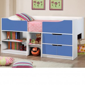 Paddington Blue and White Wooden Cabin Bed