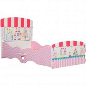 Patisserie Pink Wooden Children's Toddler Bed