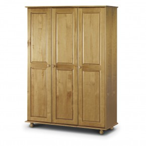 Pickwick Antique Pine 3 Door Wardrobe
