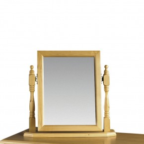 Pickwick Antique Pine Dressing Table Mirror - 48 x 48 cm
