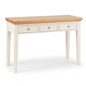 Portland Stone White and Oak Dressing Table