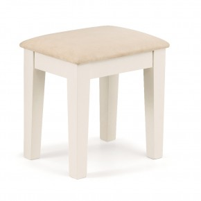 Portland Stone White and Oak Dressing Stool