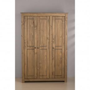 Santiago Pine 3 Door Wardrobe