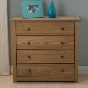 Santiago Pine 4 Drawer Chest