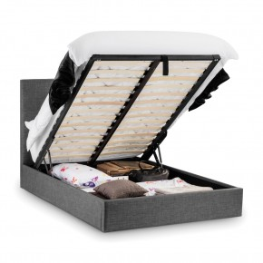Sorrento Slate Grey Ottoman Fabric Bed