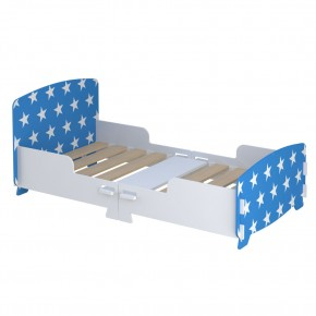 Star Blue and White Junior Toddler Bed