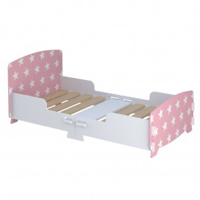 Star Pink and White Toddler Bed