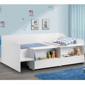 Stella White Wooden Kids Low Sleeper Cabin Storage Bed