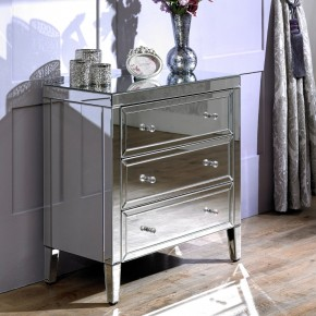Valencia Mirrored 3 Drawer Chest