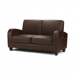 Vivo Brown Faux Leather 2 Seater Sofa