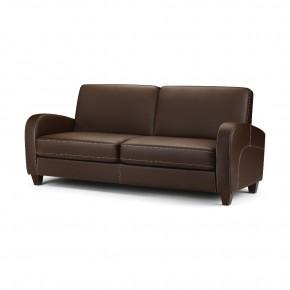 Vivo Brown Faux Leather 3 Seater Sofa