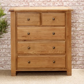 Woodstock Oak 3 + 2 Drawer Chest