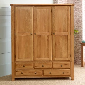 Woodstock Oak 3 Door Combination Wardrobe