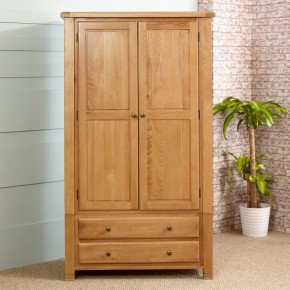 Woodstock Oak 2 Door Combination Wardrobe