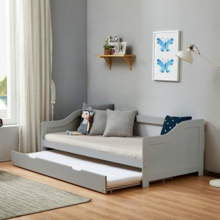 Brixton Grey Wooden Guest Bed