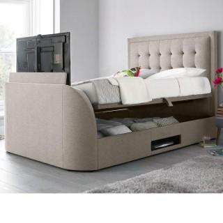 Metro Oatmeal Fabric Ottoman TV Bed