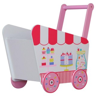 Patisserie Pink Wooden Children's Push Along