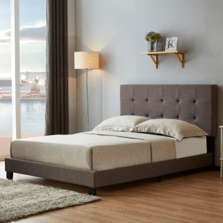 Rochelle Grey Fabric Bed