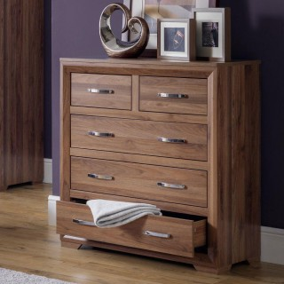 Buckingham Walnut 3 + 2 Drawer Chest