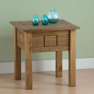 Santiago Pine Lamp Table