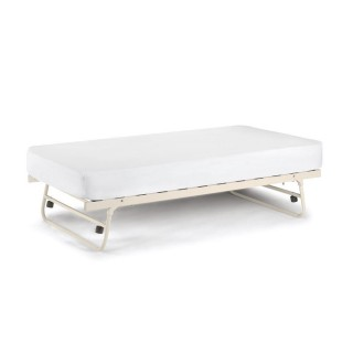 Versailles Stone White Metal Guest Underbed Trundle  - 3ft Single