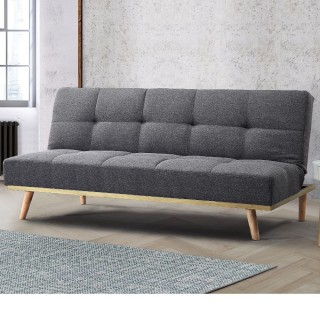 Snug Grey Fabric Sofa Bed