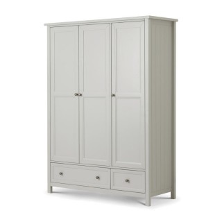 Maine Dove Grey 3 Door Wooden Combination Wardrobe