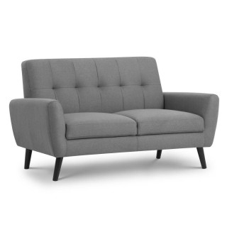 Monza Grey Fabric 2 Seater Sofa