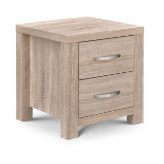 Hamilton Oak 3 Drawer Bedside Table