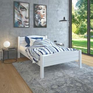 Elwood White Wooden Bed