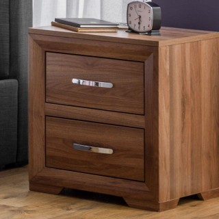 Buckingham Walnut 2 Drawer Bedside Table