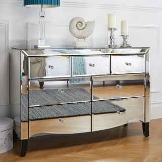Palermo Mirrored 3 + 4 Drawer Chest