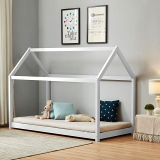 House White Wooden Bed