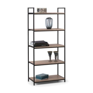 Tribeca Oak Wooden and Metal Tall Bookcase