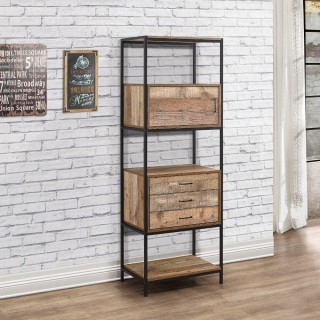 Urban Rustic 3 Drawer Shelving Unit