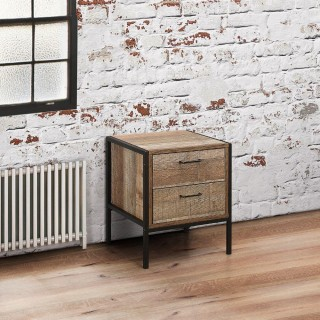 Urban Rustic 2 Drawer Bedside Table