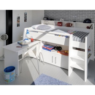 Swan White Wooden Mid Sleeper