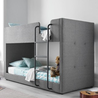 Saturn Grey Fabric Bunk Bed