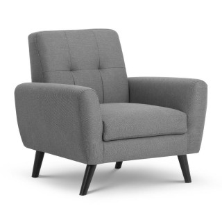 Monza Grey Fabric Chair