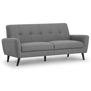 Monza Grey Fabric 3 Seater Sofa