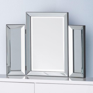Soprano Glass Folding Dressing Table Mirror - 65 cm x 50 cm