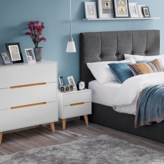 Alicia White and Oak Wooden Bedroom Furniture Collection