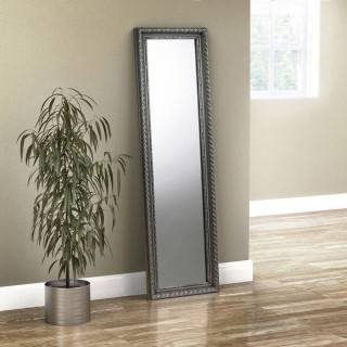 Allegro Pewter Dress Mirror - 38 x 128 cm