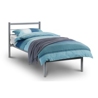 Alpen Silver Finish Metal Bed