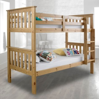 Atlantis Solid Pine Wooden Bunk Bed