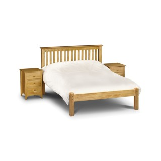 Barcelona Low Foot End Antique Solid Pine Wooden Bed