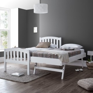 Blake White Wooden Guest Bed and Trundle